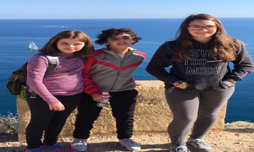Nuestros alumnos disfrutando del paisaje